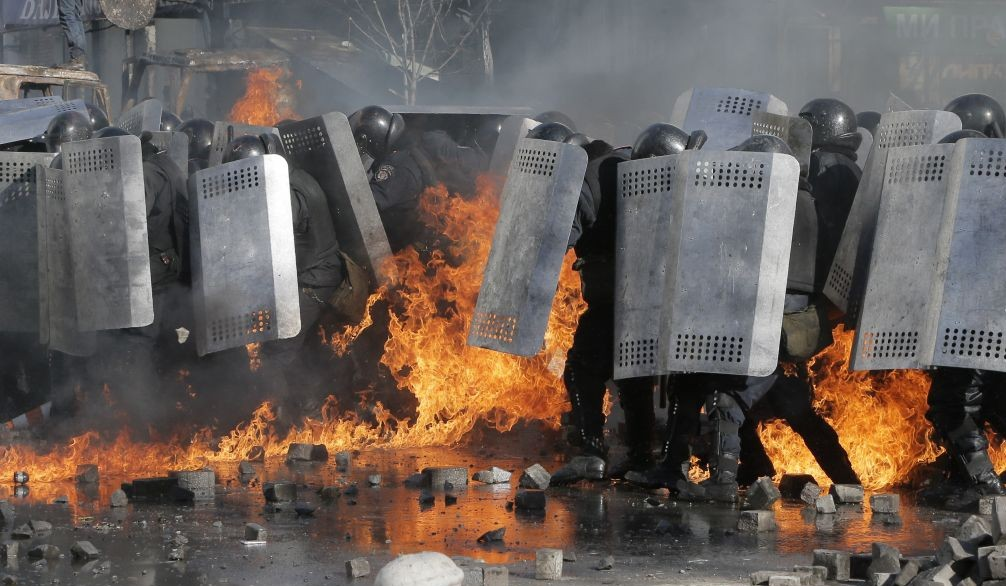 Image result for violent riots in kiev