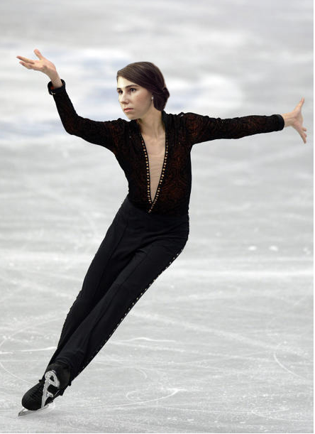 Shosh as a male figure skater (courtesy Shoshi Games 2014