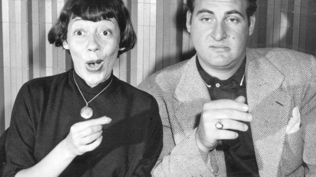 """Sid Caesar and co-star Imogene Coca in """"Your Show of Shows."""""""