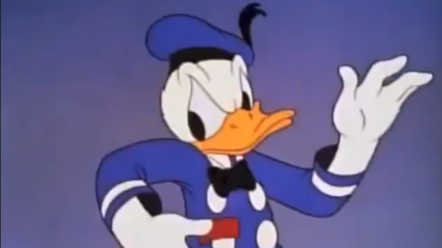 Donald Duck  (Crédit : capture d'écran YouTube)