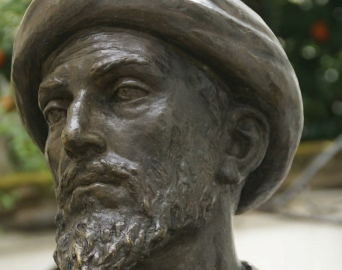 Maimonides: A bronze statue of Maimonides in Cordoba, Spain. Wikimedia Commons.