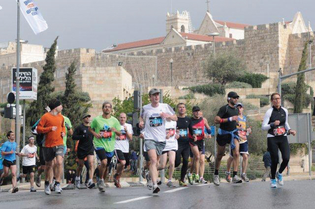 The route of the marathon takes runners past the capital's many sites. Courtesy of Jerusalem International Marathon
