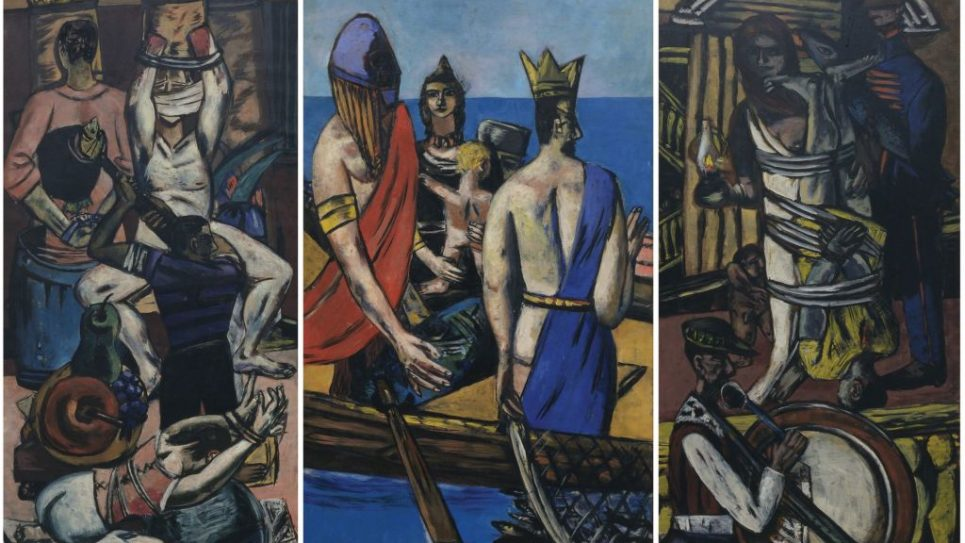 "Max Beckmann's ""Departure,"" 1932, is part of ""Degenerate Art"" show. Courtesy of 2014 MoMA/SCALA"