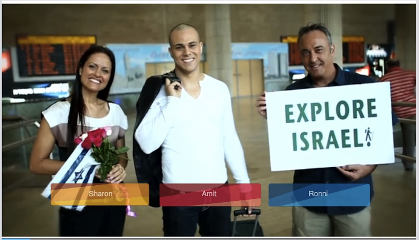 Viewers choose a guide for a day of touring Israel virtually (Photo credit: Courtesy)