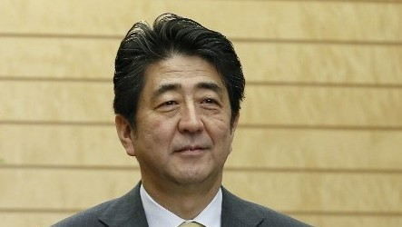 Japanese Prime Minister Shinzo Abe on March 5, 2014. (photo credit: AFP/ KIMIMASA MAYAMA)