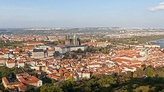 Panoramic view of Prague (photo credit: David Iliff, CC BY-SA 3.0)