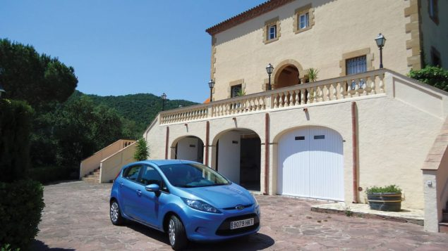 The author's husband, in a rental car, pulling into a bed-and-breakfast in Calogne, Spain. Hilary Larson/JW