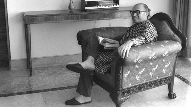 Menachem Begin at home (photo credit: GPO)