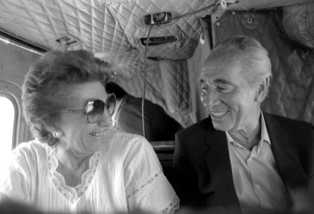 Shimon Peres with his wife, Sonia, now deceased (photo credit: GPO)