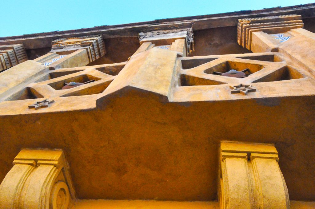 A close-up of the exterior of the former synagogue. (photo credit: Michal Shmulovich)