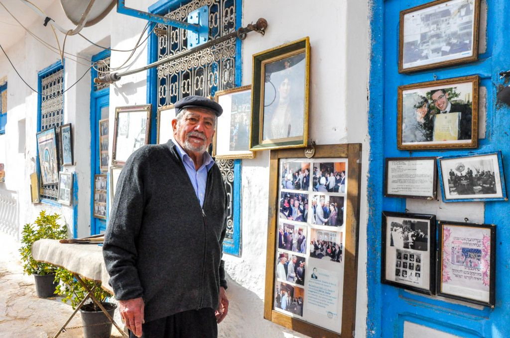 The energetic and friendly Mr. Edmond Milmoun Gabay, a Moroccan Jew from Fez, is the caretaker of a small museum on the outskirts of the Jewish cemetery. (photo credit: Michal Shmulovich)