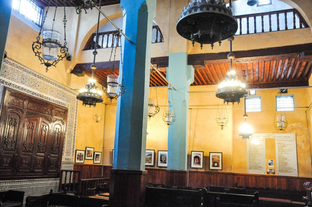 The Ibn Danan Synagogue dates back to the 17th century. The simple structure, which was once the only synagogue inside Fez's old city walls, was modestly refurbished and reopened in 1999. (photo credit: Michal Shmulovich)