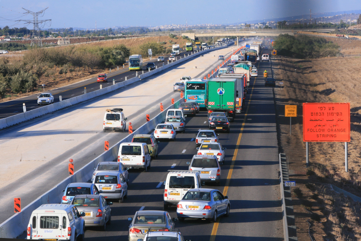 Route 6, the trans-Israel highway (photo credit: Chen Leopold/Flash90)