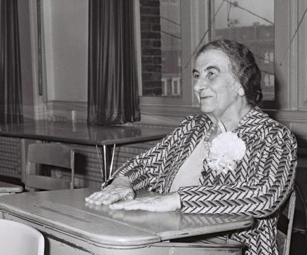 Golda Meir in a casual moment (photo credit: GPO)