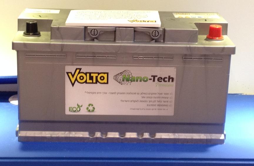 The Volta nanotech battery (Photo credit: Courtesy)