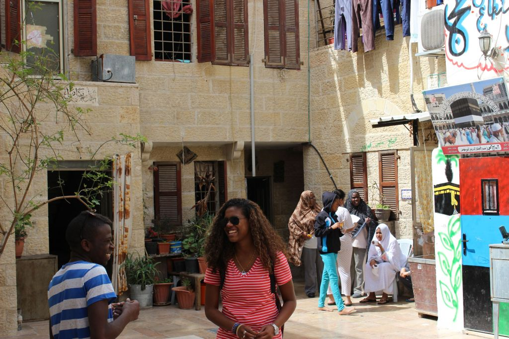 Members of the African community in Jerusalem's Old City (photo credit: Ilan Ben Zion/Times of Israel)
