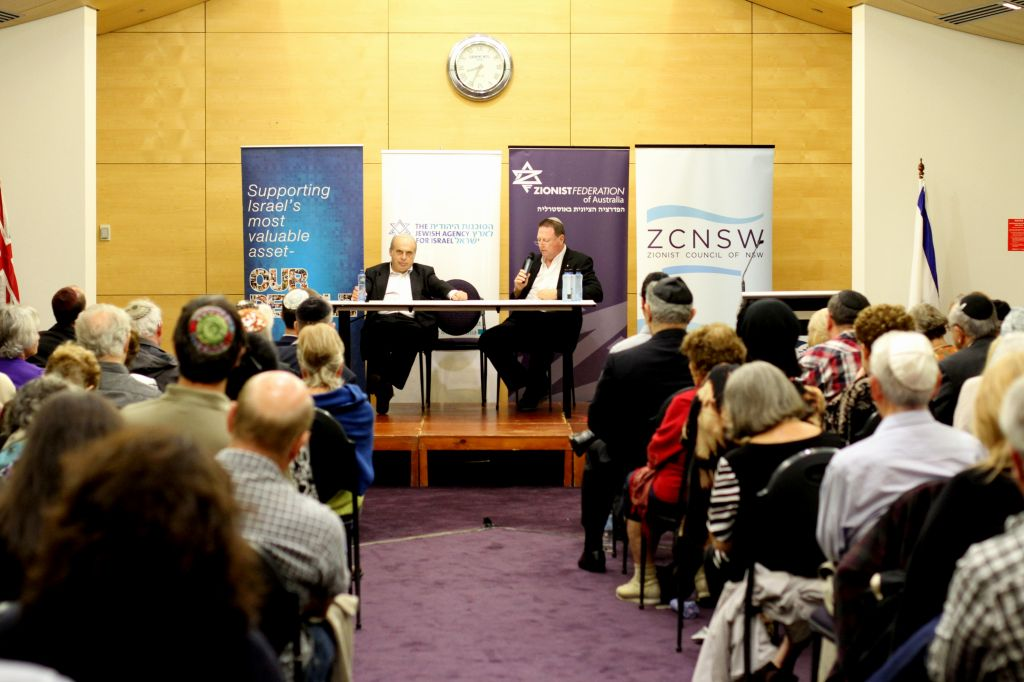 Jewish Agency head Natan Sharansky speaks at The Central Synagogue in Sydney, Australia, on Thursday (photo credit: Zionist Federation of Australia)