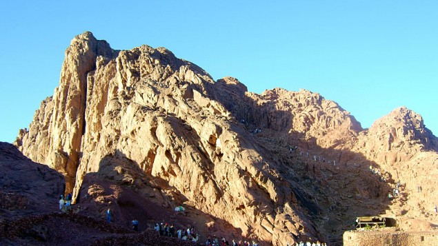 Mont Sinai (Crédit : Tamerlan/Wikimedia commons)