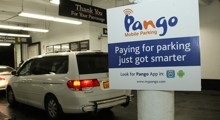 Pango parking app snags new investment the times for Parking garages new york city