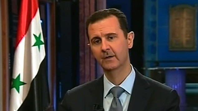 Bashar el-Assad (Crédit : capture d'écran Youtube/Fox News)