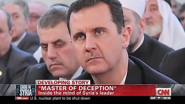 Bashar el-Assad (Crédit : capture d'écran Youtube/CNN)