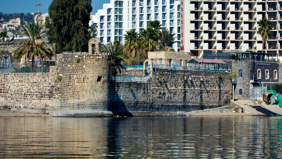 The city of Tiberias, on the shore of the Sea of Galilee, February 20, 2014. (photo credit: Moshe Shai/FLASH90)