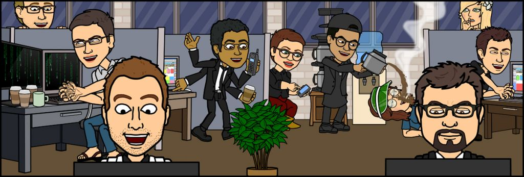 The Bitstrips team in its Toronto office. (courtesy Bitstrips)
