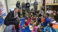 Bill de Blasio, then mayor-elect, visits a Manhattan pre-school program in December to launch UPKNYC. De Blasio Flickr Page