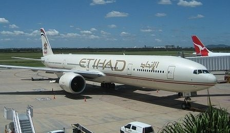 An Etihad Airlines jet. (Wikimedia Commons/ Kwlothrop CC BY-SA)