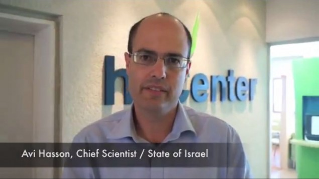 Avi Hasson, le chef scientifique d'Israël, juillet 2013 (Crédit : capture d'écran Youtube/Alan Weinkrantz)