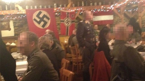 Nazi-themed dinner at the Gasthof Zur Gemutlichkeit restaurant (photo credit: City Pages)
