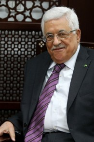 Palestinian Authority President Mahmoud Abbas at his office in the West Bank city of Ramallah on Wednesday, April 23, 2014 (photo credit: AFP/Abbas Momani)