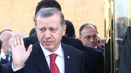 Turkish Prime Minister Recep Tayyip Erdogan on April 23, 2014. (photo credit: AFP PHOTO/ADEM ALTAN)