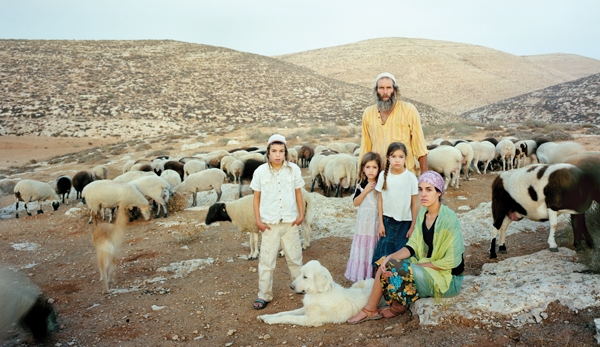 """A young family of shepherds in Brenner's """"Judean Hills."""" Courtesy of Howard Greenberg Gallery"""