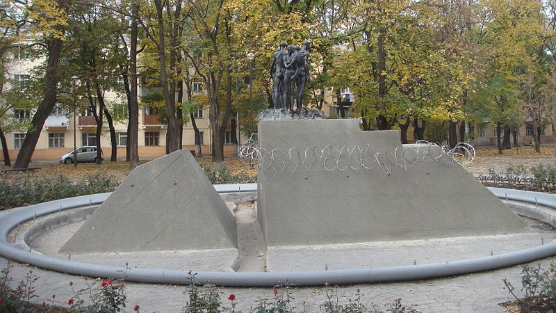 Holocaust monument in Odessa, Ukraine, before anti-Semites vandalized it