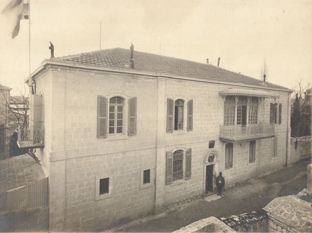 The former Swedish Consulate and DEI headquarters on Ethiopia Street, Jerusalem (March 1907) (photo credit: © DEIAHL, Jerusalem)