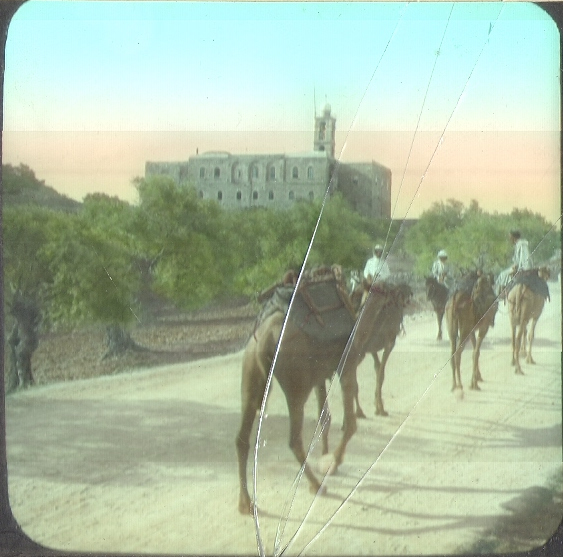 Elias Monastery, on road from Jerusalem to Bethlehem (1906) (photo credit: © DEIAHL, Jerusalem)