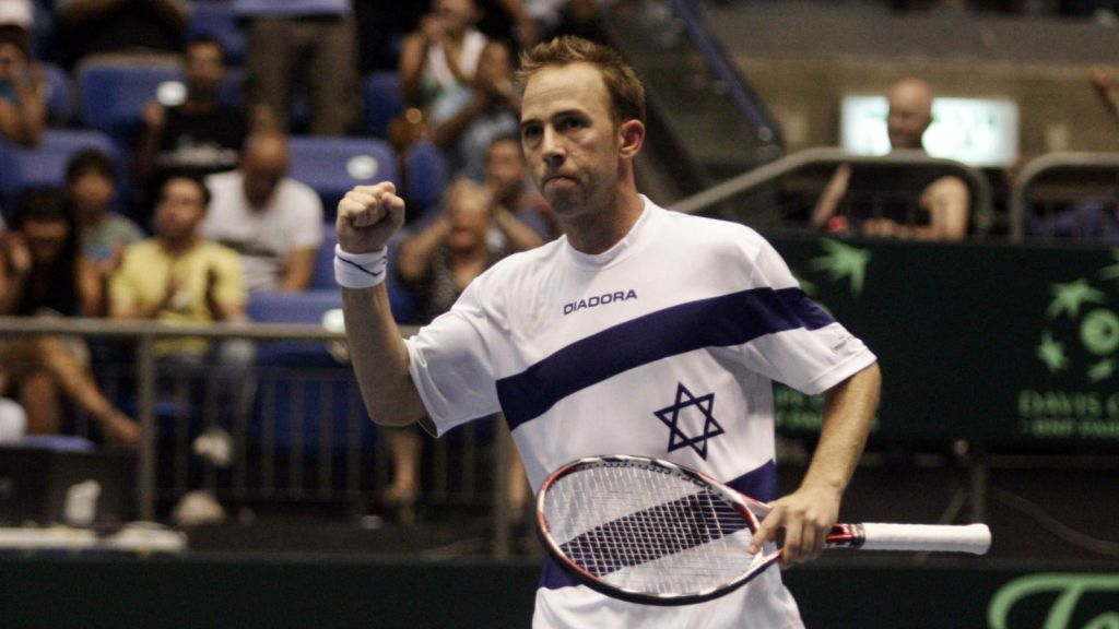 Israel's Dudi Sela during a Davis Cup match. (photo credit: Uri Lenz/ FLASH90)