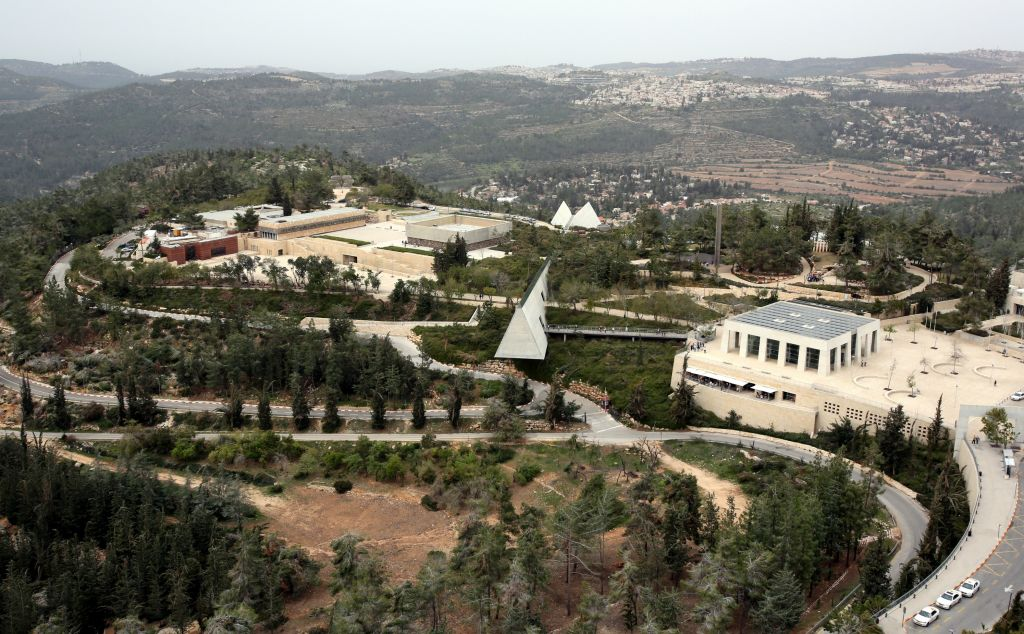 A bird's eye view of Yad Vashem and Mount Herzl (photo credit: Yossi Zamir/Flash 90)