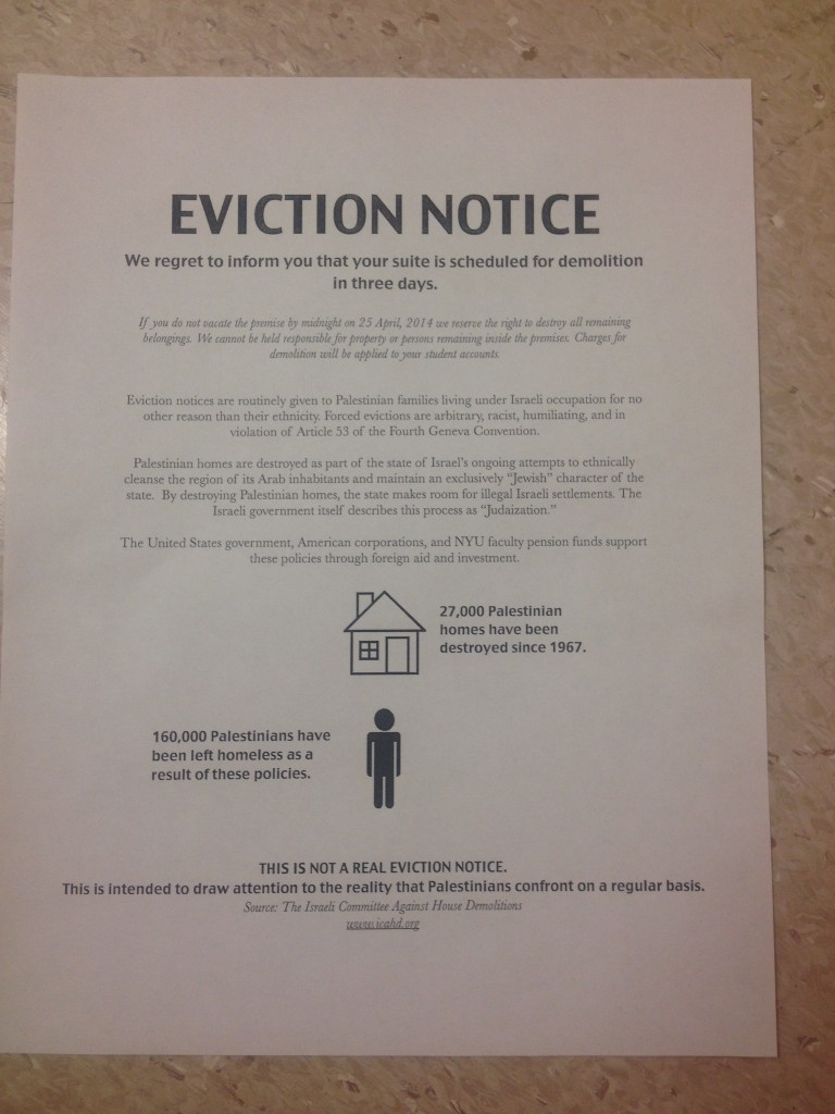 Jews In Nyu Dorm Served Eviction Notices The Times Of