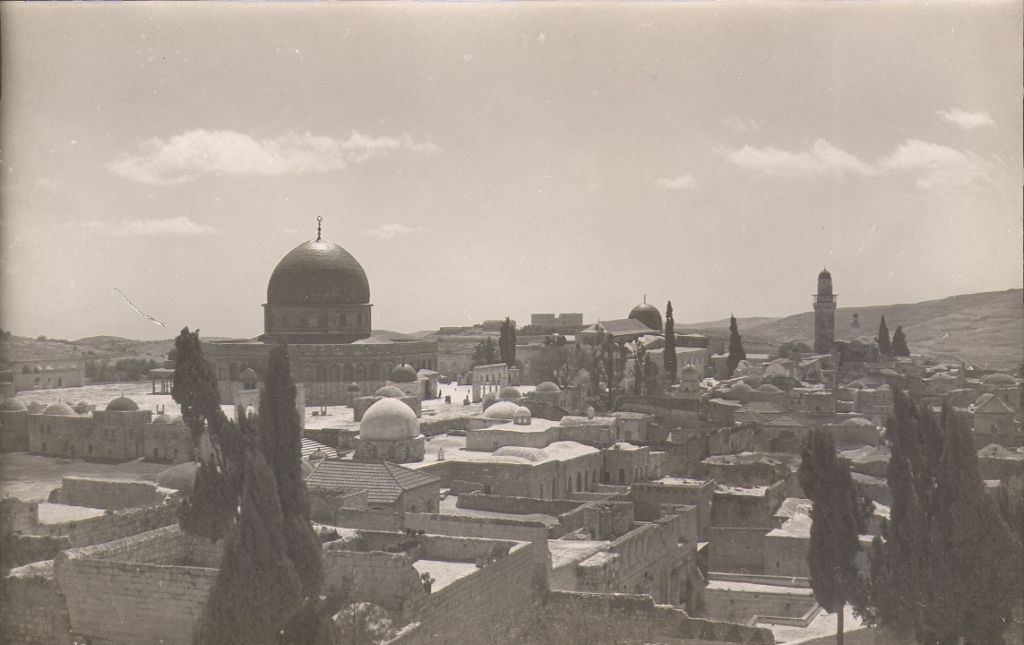 Old City Jerusalem, Temple Mount from Franciscan Monastery (undated) (photo credit: © DEIAHL, Jerusalem)