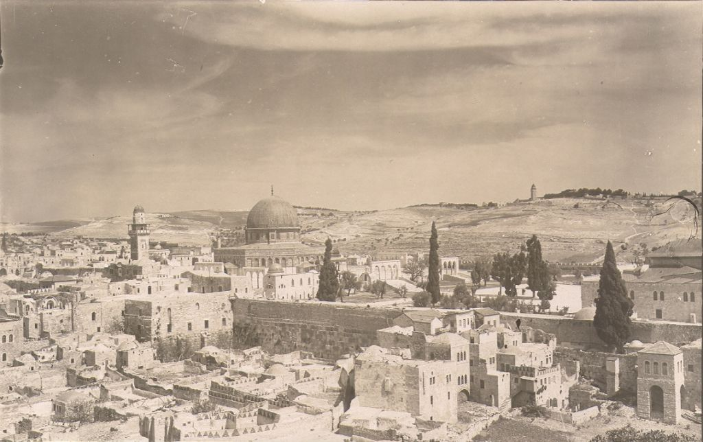 Old City Jerusalem, Temple Mount (undated, post 1910) (photo credit: © DEIAHL, Jerusalem)