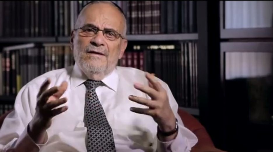 Rabbi Berel Wein (screen capture: YouTube)