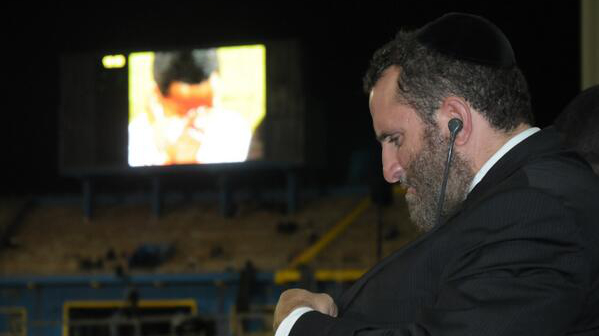 Shmuley Boteach at a ceremony in Rwanda marking the 20th anniversary of the country's genocide. (courtesy)