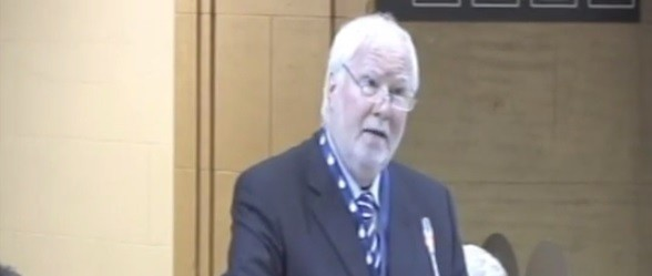 Rabbi Andrew Baker, personal representative of the chairperson-in-office on combating Anti-Semitism at the Organization for Security and Co-operation in Europe (photo credit: Youtube screenshot)