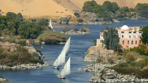 The Nile near Aswan in south Egypt (Photo credit: CC-BY-SA Citadelite, Wikimedia Commons)