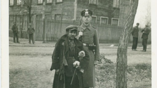 A German soldier poses next to a Jewish man (photo credit: Shem Olam Institute)
