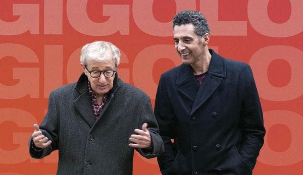 "John Turturro, right, and Woody Allen star in ""Fading Gigolo.""  Courtesy of Tribute Films"