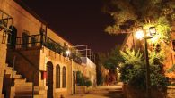 Nighttime in Yenim Moshe, an old neighborhood in Jerusalem that overlooks the Old City.