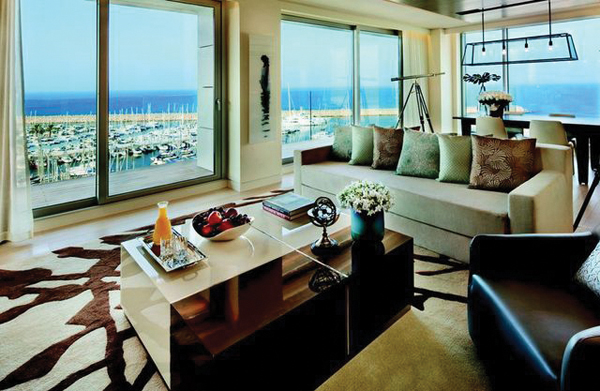 A suite at The Residences at  The Ritz-Carlton, Herzliya.